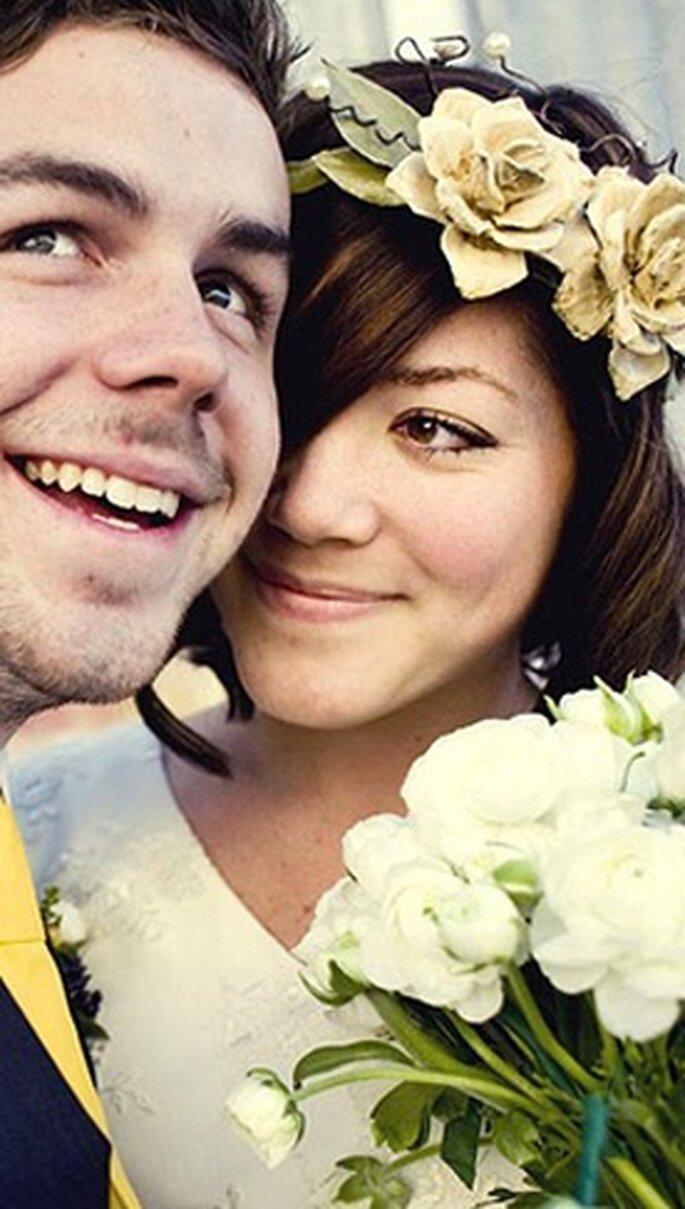 Braut mit grossen Blumen - Haarreifen