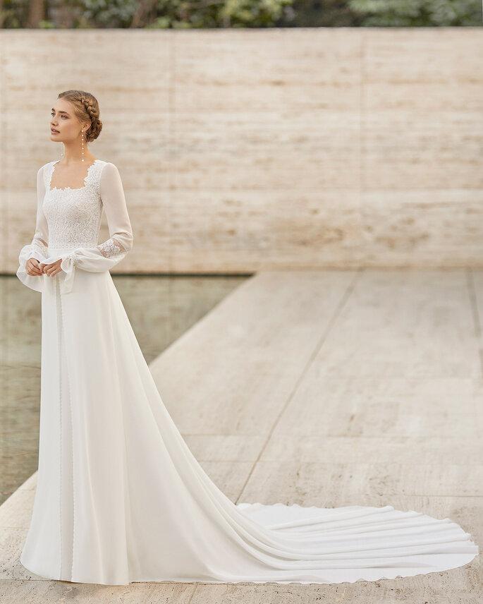 Vestidos de novia escote cuadrado