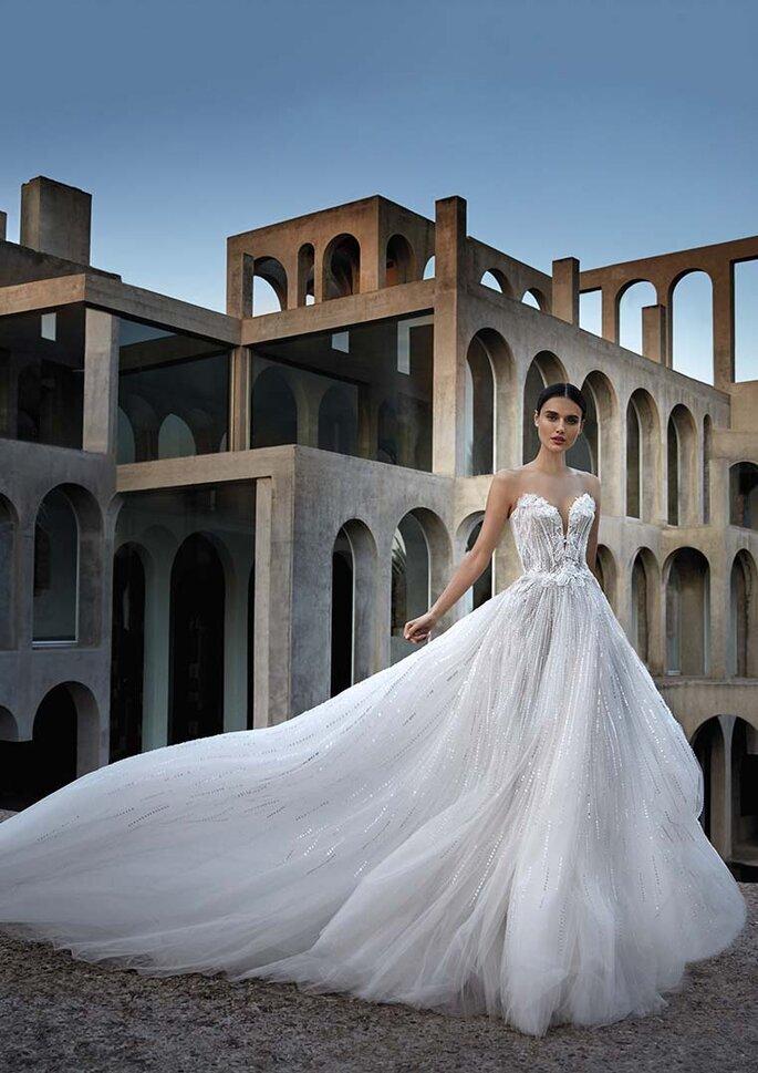 Robe de mariée bohème bustier