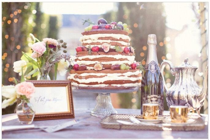 Postres frutales para boda. Foto: Half Orange Photography
