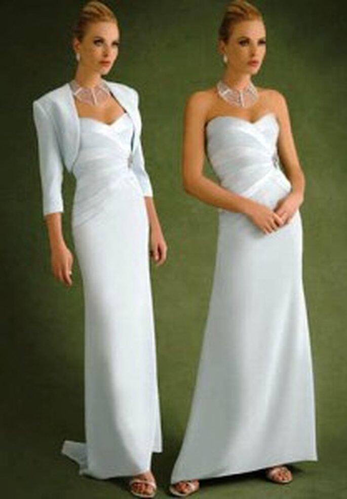 Demetrios 2009 - Ensemble de robe bustier à décolleté en coeur et boléro à manches 3/4