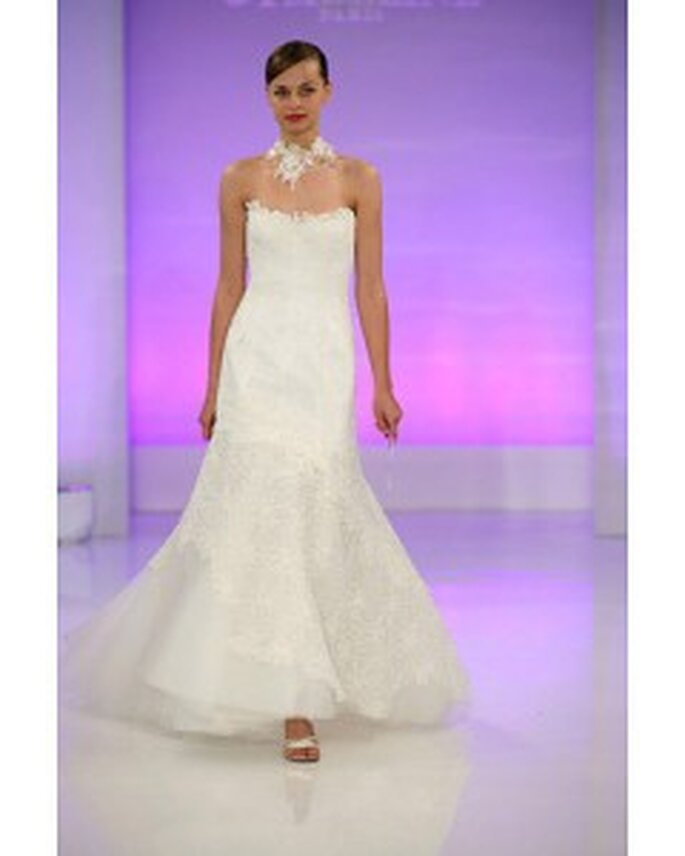 Inexpensive upper flat with embroider inviting backless tulle satin court train evening cream wedding dress