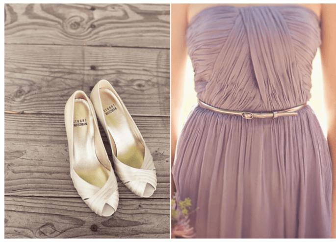 Los vestidos para damas de boda más lindos en color lila - Foto Jackie Wonders