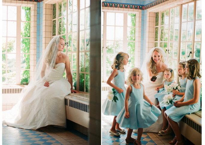 Niños en la ceremonia matrimonial. Foto: Jen Lynne