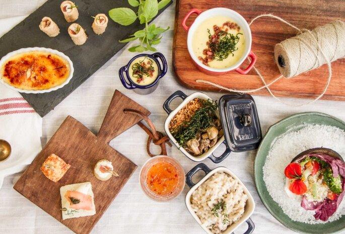buffet de casamento, gastronomia