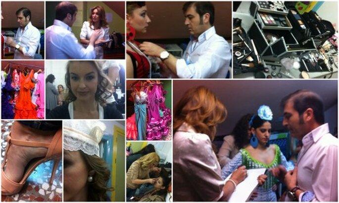 Preparativos en el backstage de la presentación de 'Sevillania 2012'