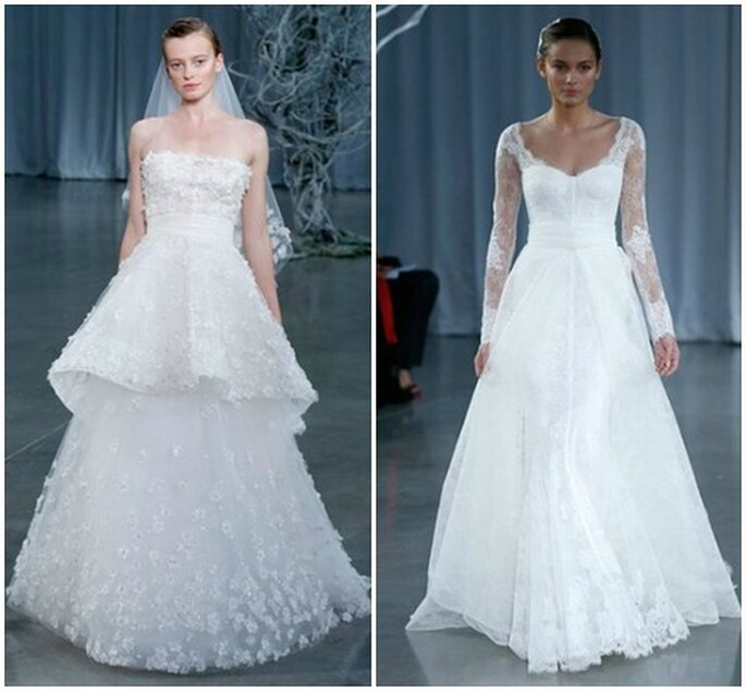 Abiti dal sapore romantico. Monique Lhuillier Fall 2013 Bridal Collection. Foto: www.moniquelhuillier.com
