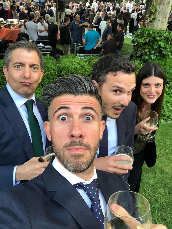 Con i ragazzi di Equoevento Onlus Madrid durante un importante evento istituzionale