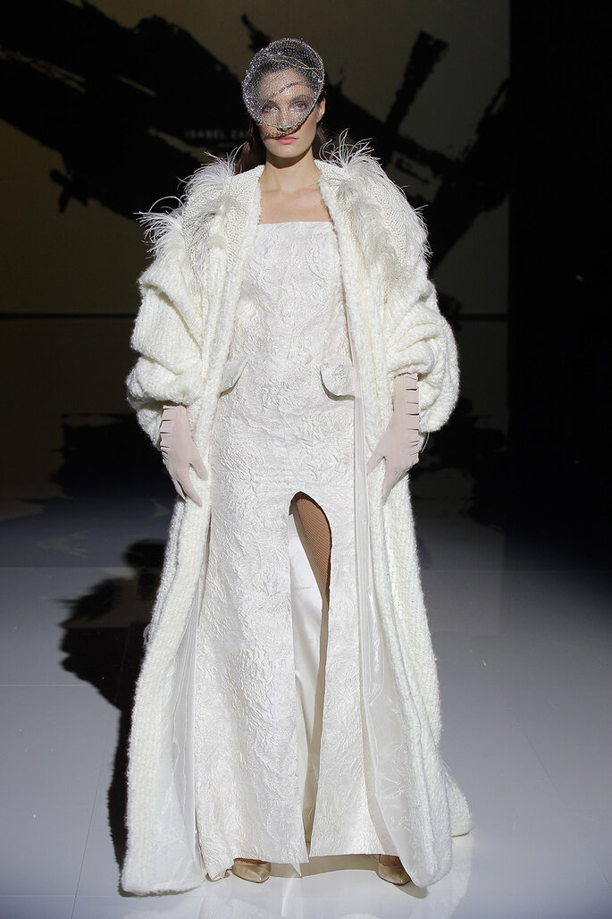 Robe longue d'hiver pour un mariage civil