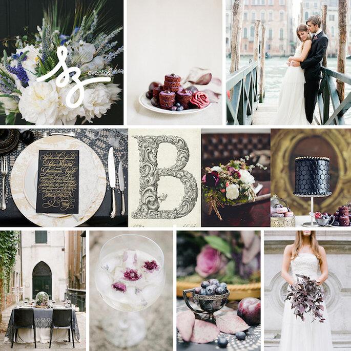Inspiración de máxima elegancia para tu boda- Fotos de Heather Waraksa