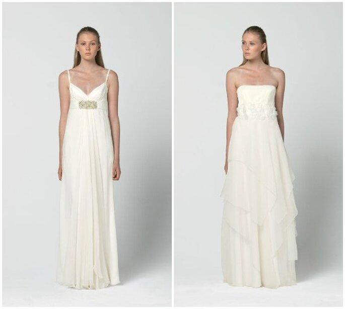 Due proposte in leggero chiffon per la sposa minimal. Max Mara 2013 Bridal Collection. Foto: www.maxmara.com