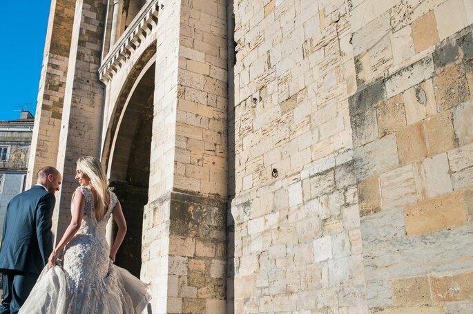 Ensaio noivos na igreja