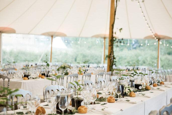 Décoration de table de mariage estivale