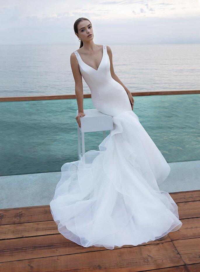 Robe de mariée sirène en tulle