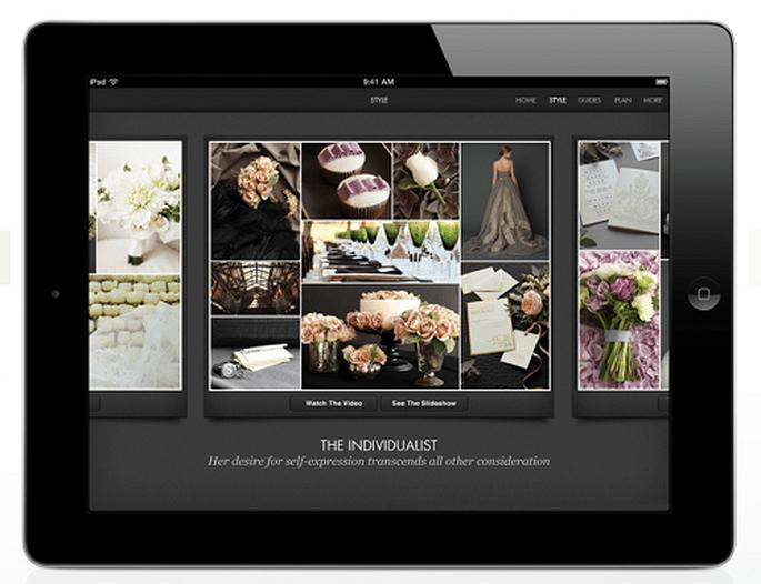 Mehr als 1.000 Bilder von Brautkleidern, Hochzeitstorten etc.- Foto: Vera Wang.