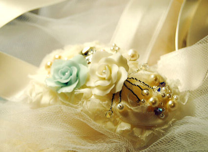 Ein Hauch von Blau - Vintage Accessoires mit Rose