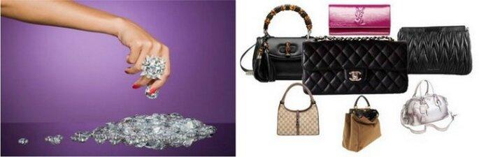 Sono i diamanti o le borse i migliori amici di una (futura) sposa? Grande dilemma!