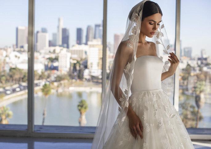 Voile de mariée brodé