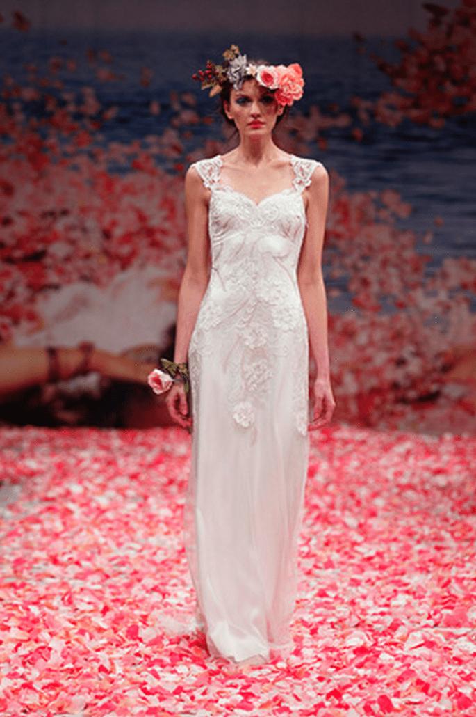 Vestido de novia sencillo y con estilo bohemio - Foto Claire Pettibone