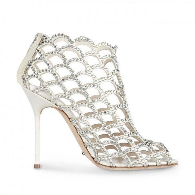 Zapatos de novia abiertos al tobillo - Foto Sergio Rossi