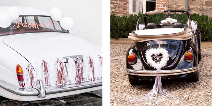 Kit completo coche just married oro rosado