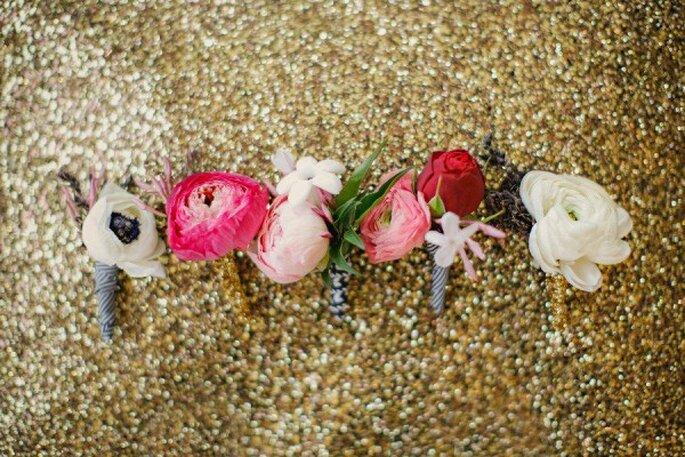Decoración con glitter y lentejuelas para tu boda - Foto Apryl Ann Photography