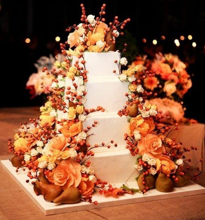 Torte nuziali per un matrimonio in autunno come sublimare for Piani domestici di base