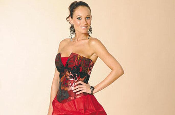 Robe Farandole Rouge - Annie Couture 2010