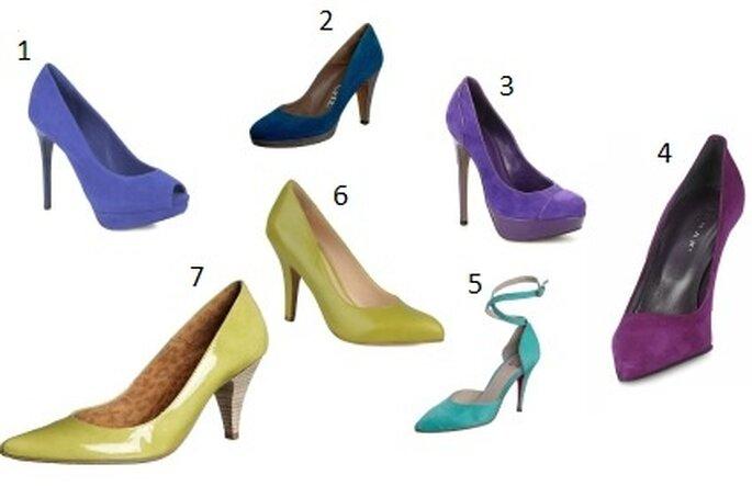 Chaussures couleurs paon - 1 : Cosmoparis Jill chez Sarenza.com 2 : Paco Gil Grassy chez zalando.fr 3 : Carvela Alma chez sarenza.com 4 : Ileen chez spartoo.com 5 : Nolita Fanny chez zalando.fr 6 : Noë Mogana chez sarenza.com 7 : Xyxyx Patent Almorox chez zalando.fr