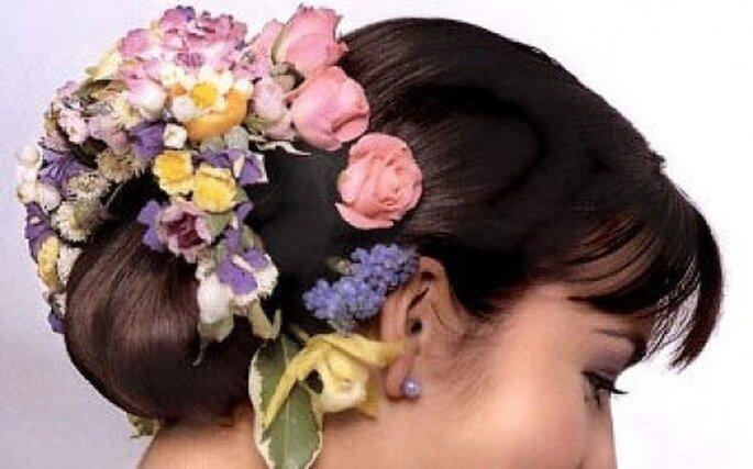Hay muchos peinados diferentes para el día de la boda