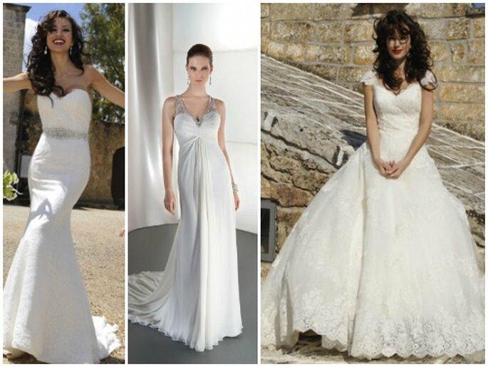 Para cada novia un estilo: todas las mujeres tienen un vestido en Demetrios. Fotos: www.demetriosbridal.com
