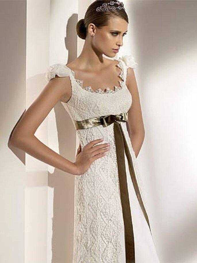 Las novias quieren estar tan bellas como las modelos. Vestido de Pronovias