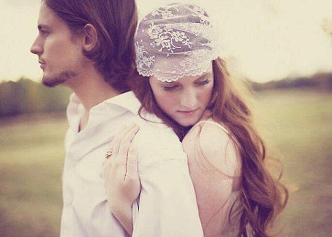 Velo de novia de encaje. Foto: wichgoose