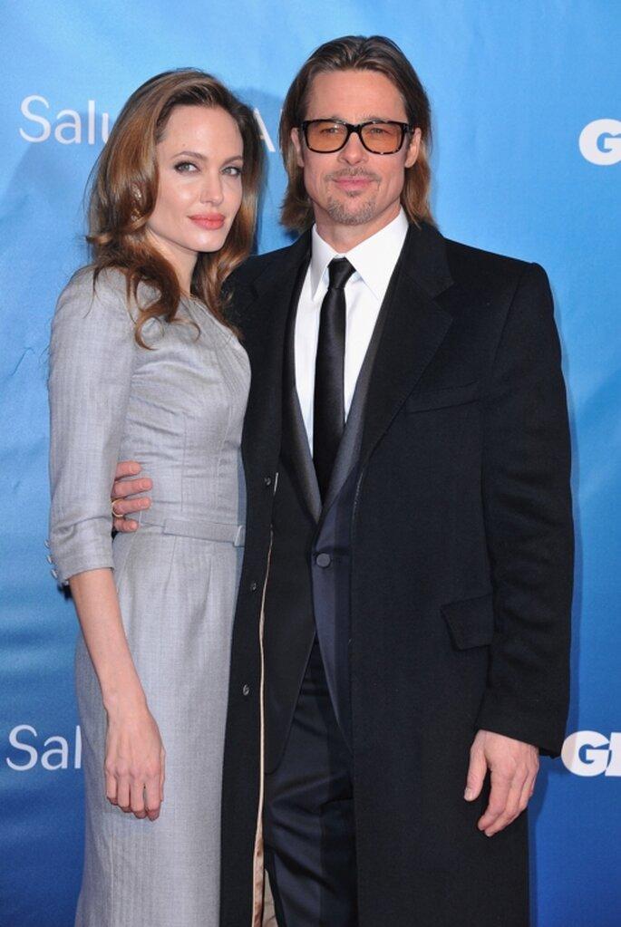 Angelina Jolie y Brad Pitt en la alfombra roja de un festival de cine - Foto: image.net