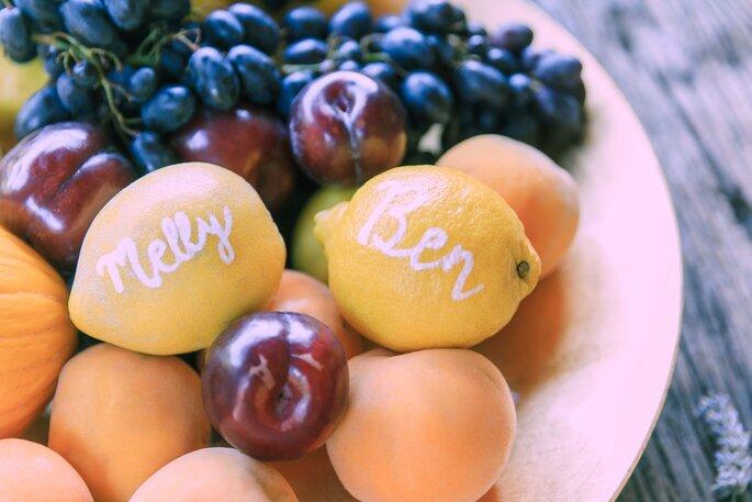 Fruchtige Köstlichkeiten bei der Hochzeit im Tessin.