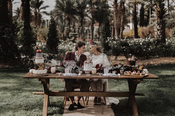 novios mesa banquete
