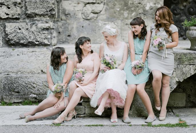 Como escoger los ramos de las damas de honor para la boda. Fotografía Nadia Meli