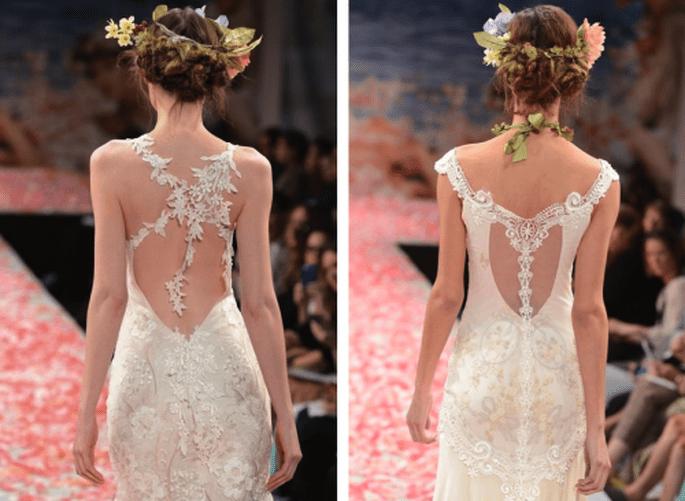 Vestidos de novia con escote en la espalda para bodas en 2014 - Foto Claire Pettibone