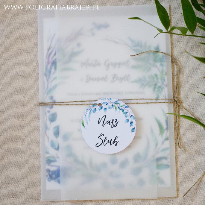 Zaproszenia ślubne Poligrafia Brajer