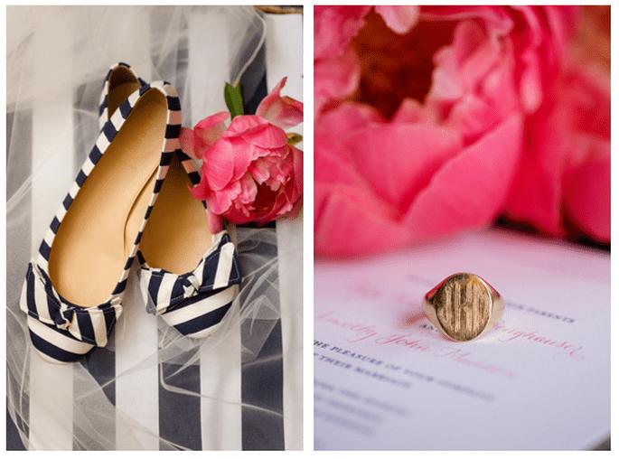 Decorazione con righe al tuo matrimonio - Foto Katelyn James