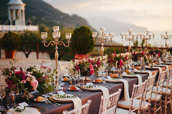 decoracion mesa banquete