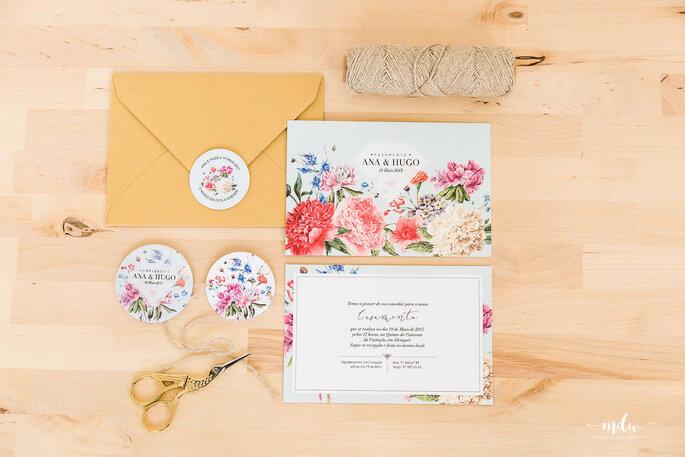 Convite de casamento concebido por Molde Design Weddings