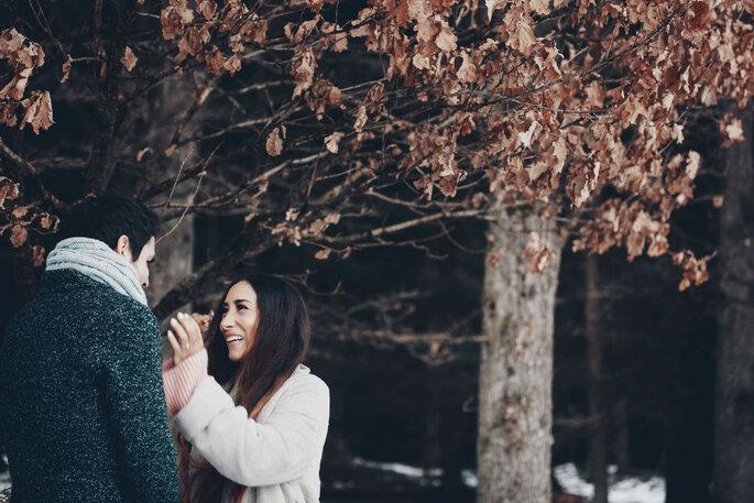 Coupleshoot. Pärchen im Wald