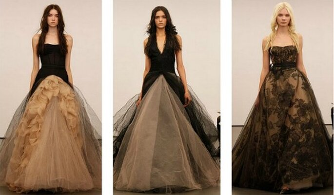 Brautkleider in schwarz und hautfarben von Vera Wang- ein explosives Wirkungsgemisch