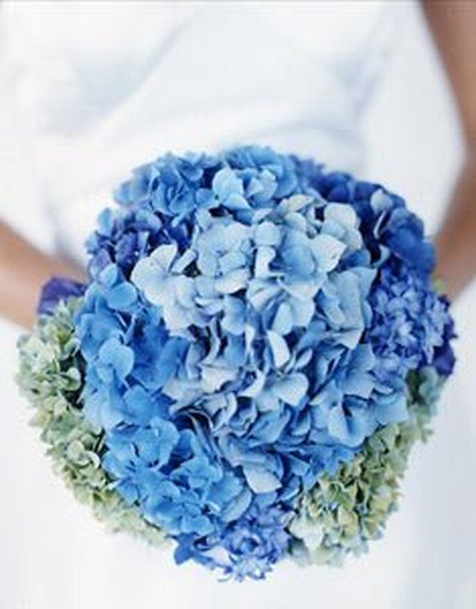 Ramo de novia azul