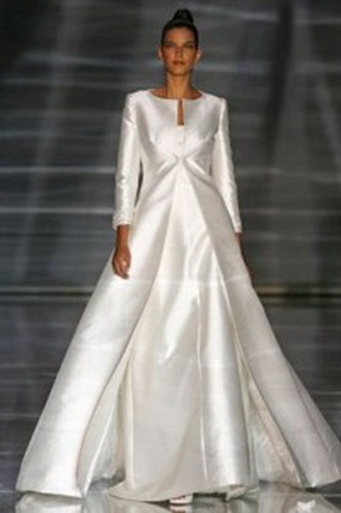 Vestido de noiva para o Inverno -  Valentino, vestido de mangas largas