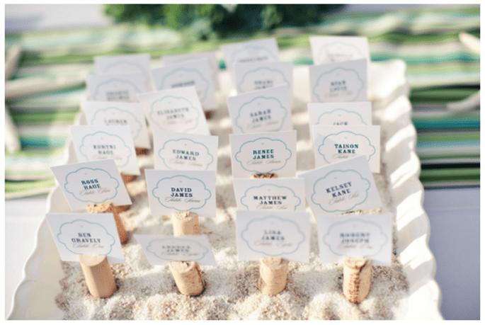Un acomodo para tus invitados inspirado en la playa - Foto Denise Nicole Photography
