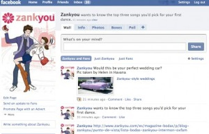 Zankyou on Facebook
