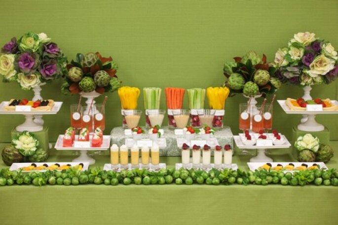 Opciones para un banquete vegetariano - Foto Koyal Wholesale