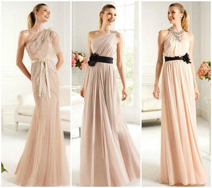 Trois robes de soirée de la collection Pronovias 2013 : aussi appropriées pour une mariée que pour une invitée ! Photo www.pronovias.com